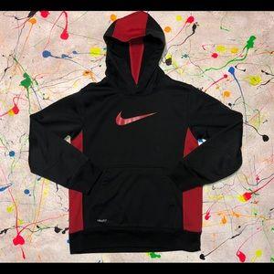 Nike Dri-Fit Hoodie (Boys) Medium (Red & Black)